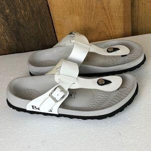 Birkenstock Betula White Gizeh Sandals size 9